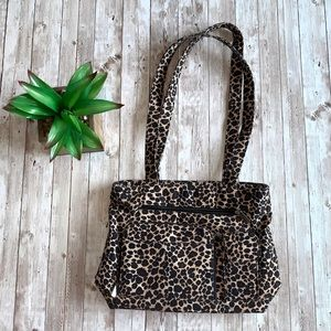 Leopard print purse handbag shoulder bag